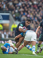 Twickenham, United Kingdom, Billy VUNIPOLA, carries the ball, during the Old Mutual Wealth Series test Match, England vs Argentina, at the, RFU Stadium, Twickenham, England, <br />