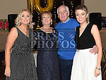 Sandra Callaghan celebrating her 60th birthday in The Thatch with her husband Brendan and daughters Sandra and Catherine. Photo:Colin Bell/pressphotos.ie