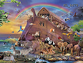 Interlitho,Simonetta, REALISTIC ANIMALS, REALISTISCHE TIERE, ANIMALES REALISTICOS, paintings+++++,noah's arch,KL4479,#A#camel,rainbow,elephants,eagle,zebras,lions,parrots,giraffe,killer wales,pandas,tigers #161# ,puzzles