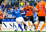 St Johnstone v Dundee United...27.08.11   SPL Week 5.Francisco Sandaza and Gary Kenneth.Picture by Graeme Hart..Copyright Perthshire Picture Agency.Tel: 01738 623350  Mobile: 07990 594431