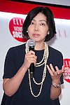 Keiko Hamada, editor-in-chief of AERA speaks to the audience during the ''ELLE Women in Society'' event on July 13, 2015, Tokyo, Japan. The event promotes the working women's roll in Japanese society with various seminars where top businesswomen, musicians, writers and other international celebrities speak about the working women's roll in the world. By 2020 Prime Minister Shinzo Abe's administration aims to increase the percentage of women in leadership positions to 30% in Japan. (Photo by Rodrigo Reyes Marin/AFLO)