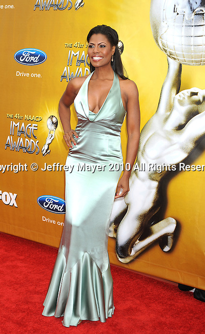 LOS ANGELES, CA. - February 26: Omarosa Manigault Stallworth  arrives at the 41st NAACP Image Awards at The Shrine Auditorium on February 26, 2010 in Los Angeles, California.