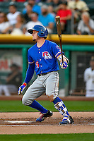 Ryan Rua (15) of the Round Rock Express at bat against the Salt Lake Bees in Pacific Coast League action at Smith's Ballpark on August 13, 2016 in Salt Lake City, Utah. Round Rock defeated Salt Lake 7-3.  (Stephen Smith/Four Seam Images)