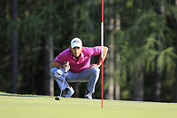 Pablo Larrazabal (ESP) on the 15th green during Thursday's Round 1 of the 2017 Omega European Masters held at Golf Club Crans-Sur-Sierre, Crans Montana, Switzerland. 7th September 2017.<br /> Picture: Eoin Clarke | Golffile<br /> <br /> <br /> All photos usage must carry mandatory copyright credit (&copy; Golffile | Eoin Clarke)