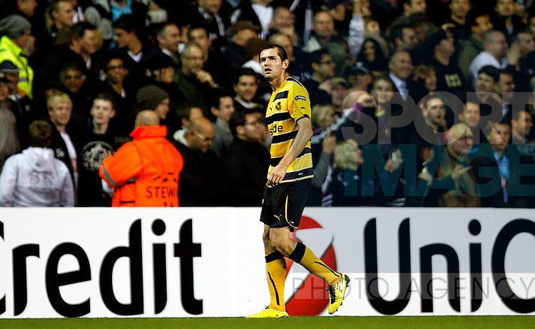 Senad Lulic of Young Boys leaves the field after receiving a red card