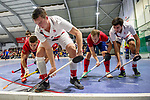 Mannheim, Germany, January 08: During the 1. Bundesliga men indoor hockey match between TSV Mannheim and Mannheimer HC on January 8, 2020 at Primus-Valor Arena in Mannheim, Germany. Final score 5-4. (Photo by Dirk Markgraf / www.265-images.com) *** Moritz Moeker #6 of TSV Mannheim