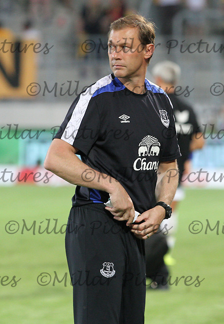 Everton coach Duncan Ferguson in the Dynamo Dresden v Everton match in the Bundeswehr Karriere Cup Dresden 2016 played at the DDV Stadion, Dresden on 29.7.16.