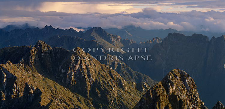 Head of Sutherland Sound. Fiordland National Park. New Zealand.