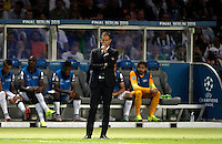 Calcio, finale di Champions League Juventus vs Barcellona all'Olympiastadion di Berlino, 6 giugno 2015.<br /> Juventus coach Massimiliano Allegri stand on during the Champions League football final between Juventus Turin and FC Barcelona, at Berlin's Olympiastadion, 6 June 2015. Barcelona won 3-1.<br /> UPDATE IMAGES PRESS/Isabella Bonotto