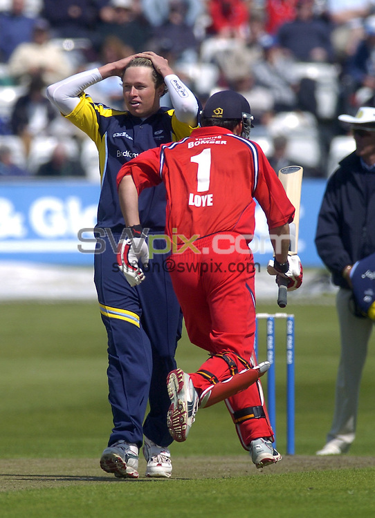 Picture by Chris Whiteoak/SWPIX.COM, C and G Trophy, Yorkshire v Lancashire, 28/05/06..Copyright>>Simon Wilkinson>>07811267706..Yorkshire's Mitch Claydon goes for more runs from Lancashire's Mal Loye