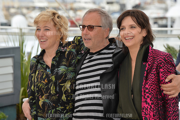 Actors Juliette Binoche, Valeria Bruni Tedeschi &amp; Fabrice Luchini at the photocall for &quot;Slack Bay&quot; (&quot;Ma Loute&quot;) at the 69th Festival de Cannes.<br /> May 13, 2016  Cannes, France<br /> Picture: Paul Smith / Featureflash