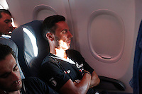 Joaquin Purito Rodriguez rests during the fly to Galicia for the continuation of the following stages of La Vuelta 2012.August 27,2012. (ALTERPHOTOS/Paola Otero) /NortePhoto.com<br />