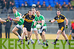 Shane Doolan Dr Crokes tackles Legion's Padraig Lucey in the O'Donoghue cup final in Fitzgerald Stadium on Sunday