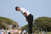 Tiger Woods (USA) misses his putt on the 7th green during Saturday's Round 3 of the 94th PGA Golf Championship at The Ocean Course, Kiawah Island, South Carolina, USA 10th August 2012 (Photo Eoin Clarke/www.golffile.ie)