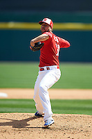 Buffalo Bisons pitcher Ryan Tepera (20) delivers a pitch during a game against the Louisville Bats on May 2, 2015 at Coca-Cola Field in Buffalo, New York.  Louisville defeated Buffalo 5-2.  (Mike Janes/Four Seam Images)