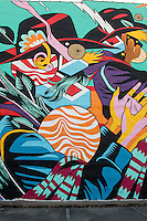 BICICLETA SEM FREIO<br /> Brazilian duo Bicicleta Sem Freio unveiled &ldquo;Catira&rdquo;. The Catira is a typical dance from the interior area of Brazil, where Bicicleta Sem Freio are from, and is performed by ranchers and farmers. This piece is their tribute to the town of Fort Smith, Arkansas. As usual with Bicicleta Sem Freio, the colors are vibrant and electric.