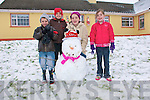 Snowman : The Galvin children from Mountcoal, Listowel  building a snowman in front garden on Sunday last. L-R : Joey, Eoin, Ciara & Keelin Galvin.