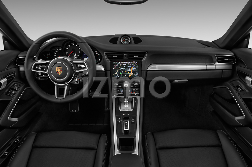Stock photo of straight dashboard view of a 2017 Porsche 911 Carrera 2 Door Coupe