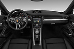 Stock photo of straight dashboard view of a 2018 Porsche 911 Carrera 2 Door Coupe