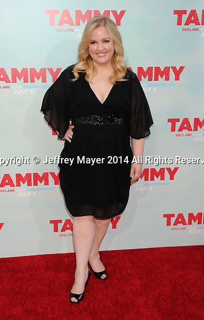 HOLLYWOOD, CA- JUNE 30: Actress Sarah Baker arrives at the 'Tammy' - Los Angeles Premiere at TCL Chinese Theatre on June 30, 2014 in Hollywood, California.