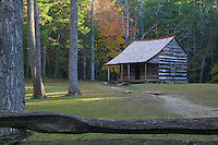 Carter Shields Cabin in Cades Cove, Great Smoky Mountains National Park