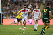 2nd December 2017, Brisbane, Australia;  Luke Gale of England during the Rugby League World Cup Men s Final match between Australia and England at Brisbane Stadium, Brisbane, Australia