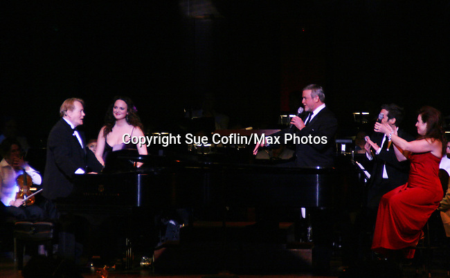 Melissa Errico, Ron Raines, Hugh Panaro and Debbie Gravitte perform Jerry Herman's Broadway with the National Symphony Orchestra at The John F. Kennedy Center for Performing Arts on March 14, 2009, in Washington D.C. (Photo by Sue Coflin/Max Photos)
