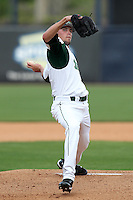 "University of South Florida Matt Reed #21 during a game vs. the Miami Hurricanes in the ""Florida Four"" at George M. Steinbrenner Field in Tampa, Florida;  March 1, 2011.  USF defeated Miami 4-2.  Photo By Mike Janes/Four Seam Images"
