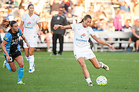 Kansas City, MO - Sunday September 11, 2016: Mandy Laddish during a regular season National Women's Soccer League (NWSL) match between FC Kansas City and the Chicago Red Stars at Swope Soccer Village.