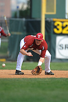 Temple University Owls infielder Frank D'Agostino (16) during practice before a game against the University of Louisville Cardinals at Campbell's Field on May 10, 2014 in Camden, New Jersey. Temple defeated Louisville 4-2.  (Tomasso DeRosa/ Four Seam Images)