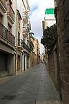 Narrow street in Plasencia, Caceres province, Extremadura, Spain