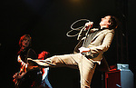 Indio, Ca- Art Brut,  lead singer Eddie Argos, performing Sunday at Coachella Valley Music and Arts Festival, April 30 2006. Madonna's' first-ever festival appearance.