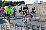 Veteran cyclist Tom Browne leads out the Currow CC cycle in aid of Castleisland Day care centre on Sunday