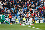 Real Madrid´s Sergio Ramos and Celta de Vigo´s Guidetti during 2015/16 La Liga match between Real Madrid and Celta de Vigo at Santiago Bernabeu stadium in Madrid, Spain. March 05, 2016. (ALTERPHOTOS/Victor Blanco)