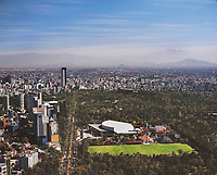 aerial photograph of National Auditorium, Chapultepec Park,  Mexico City