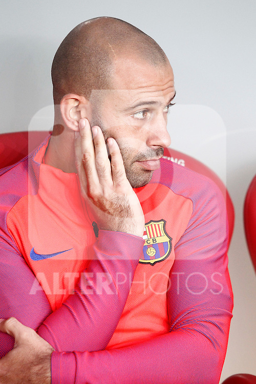 FC Barcelona's Javier Mascherano during La Liga match. August 28,2016. (ALTERPHOTOS/Acero)