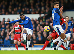 Cuco Martina of Everton has a shot on goal during the premier league match at the Goodison Park Stadium, Liverpool. Picture date 2nd December 2017. Picture credit should read: Simon Bellis/Sportimage