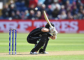 Jun 6th, The SSE SWALEC, Cardiff, Wales; ICC Champions Trophy; England versus New Zealand; Kane Williamson of New Zealand ducks a low bouncer