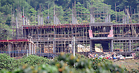 Construction of the labs and scientists living quarters at the new facility of the Guangzhou Blooming Spring Biological Technology Development Co, Ltd in Guangdong Province, China. The farm will be the biggest in the world holding 50,000 monkeys. The monkeys are bred solely for export to the US and Europe where pharmaceutical and cosmetic companies use them vivisection. ..SINOPIX PHOTO