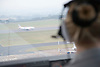 View from Inside the air traffic control tower at East Midlands Airport