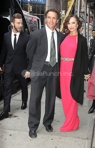 03 08, 2016: Doug Flutie and Karina Smirnoff of Dancing With the Stars Season 22  at Planet Hollywood Time Square in New York. Credit:RW/MediaPunch