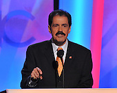 Denver, CO - August 25, 2008 -- United States Representative Jose Serrano (Democrat of Bronx, New York) makes remarks on Day 1 of the 2008 Democratic National Convention at the Pepsi Center in Denver, Colorado on Monday, August 25, 2008..Credit: Ron Sachs - CNP.(RESTRICTION: NO New York or New Jersey Newspapers or newspapers within a 75 mile radius of New York City)