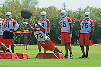 Jun 9, 2008; Tempe, AZ, USA; Arizona Cardinals tackle (72) Brandon Keith does drills during mini camp at the Cardinals practice facility. Mandatory Credit: Mark J. Rebilas-