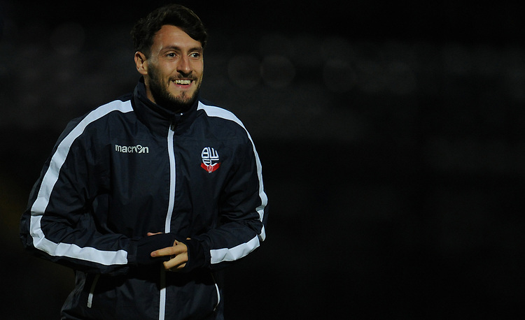 Bolton Wanderers' Will Buckley during the pre-match warm-up <br /> <br /> Photographer Kevin Barnes/CameraSport<br /> <br /> EFL Leasing.com Trophy - Northern Section - Group F - Rochdale v Bolton Wanderers - Tuesday 1st October 2019  - University of Bolton Stadium - Bolton<br />  <br /> World Copyright © 2018 CameraSport. All rights reserved. 43 Linden Ave. Countesthorpe. Leicester. England. LE8 5PG - Tel: +44 (0) 116 277 4147 - admin@camerasport.com - www.camerasport.com
