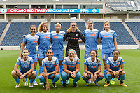 Bridgeview, IL - Sunday August 20, 2017: Chicago Red Stars Starting XI during a regular season National Women's Soccer League (NWSL) match between the Chicago Red Stars and FC Kansas City at Toyota Park. KC Kansas City won 3-1.