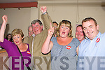 Sean Counihan celebrates being elected in Killarney UDC election count in the Aras Padraig Killarney on Saturday l-r: Mary, Sean, Denise and Aidan Moynihan