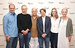 Daniel Jenkins, David Chandler, Ron Crawford, Keith Reddin, Lisa Emery, and Kathleen Chalfant attend the meet & Greet for Playwrights Horizons New York Premiere pf 'For Peter Pan on her 70th Birthday' on July 25, 2017 at the Playwrights Horizons Studios at  in New York City.