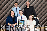 Cormack Sertutxa, from Castlemaine  with his family after he was presented with the Lee Strand-Kerry Garda Youth Acheivement Merit Award on Friday night in Ballyroe Heights Hotel, Pictured Clodagh Sertutxa, Cormack Sertutxa, Alazne Sertutxa, Niall Sertutxa, Inigo Sertutxa
