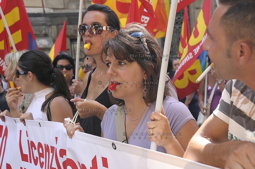 Palermo: general stike by trade unionist CGIL.<br /> Palermo: sciopero generale indetto dalla CGIL
