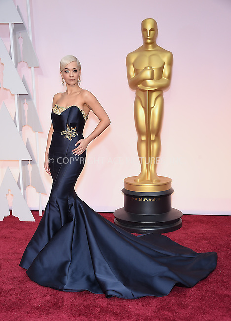WWW.ACEPIXS.COM<br /> <br /> February 22 2015, Los Angeles Ca.<br /> <br /> Singer Rita Ora arriving at the 87 th Annual Academy Awards at the Hollywood and Highland center on February 22 2015 in Hollywood CA.<br /> <br /> <br /> Please byline: Z15/ACE Pictures<br /> <br /> ACE Pictures, Inc.<br /> www.acepixs.com<br /> Email: info@acepixs.com<br /> Tel: 646 769 0430